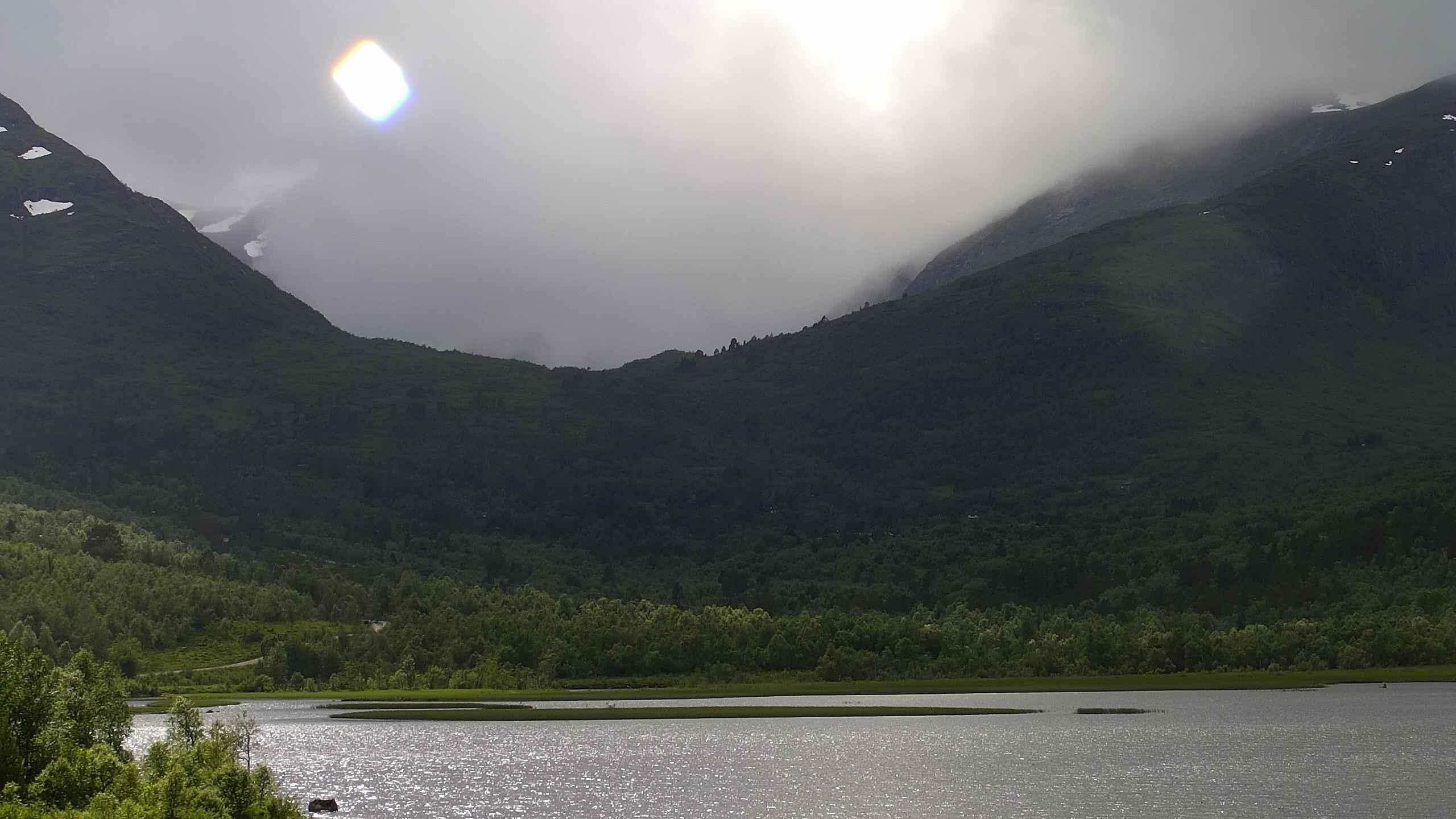 Berillvatnet, mot Bøstølen, oppdatert  19.01 16:18